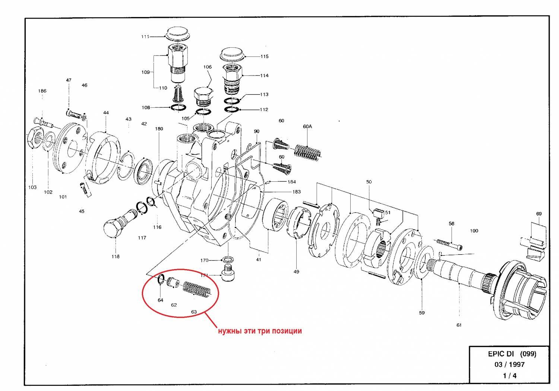 Схема разборки сборки насоса подкачки топлива