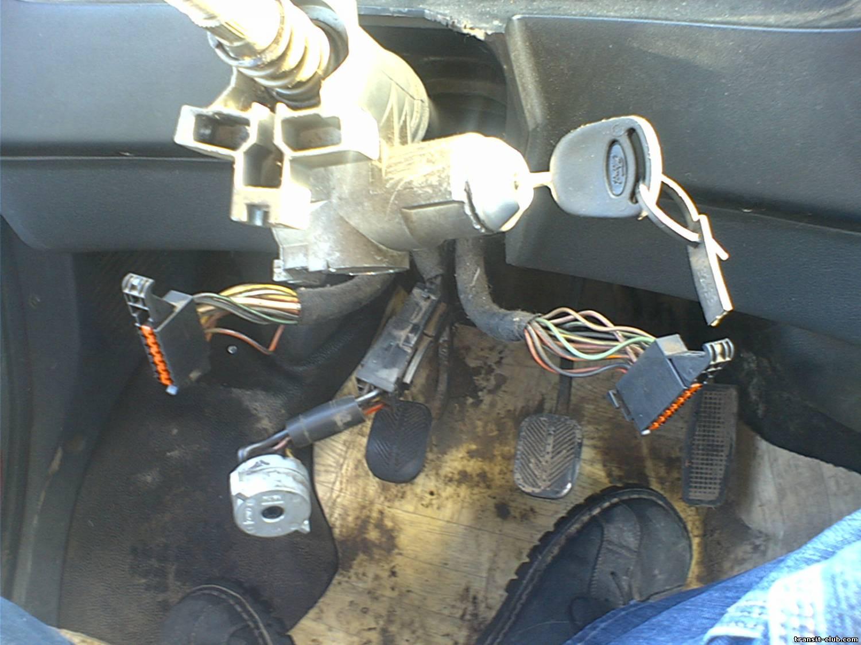 показать в картинках как снять замок зажигания на форд транзит личинку ф